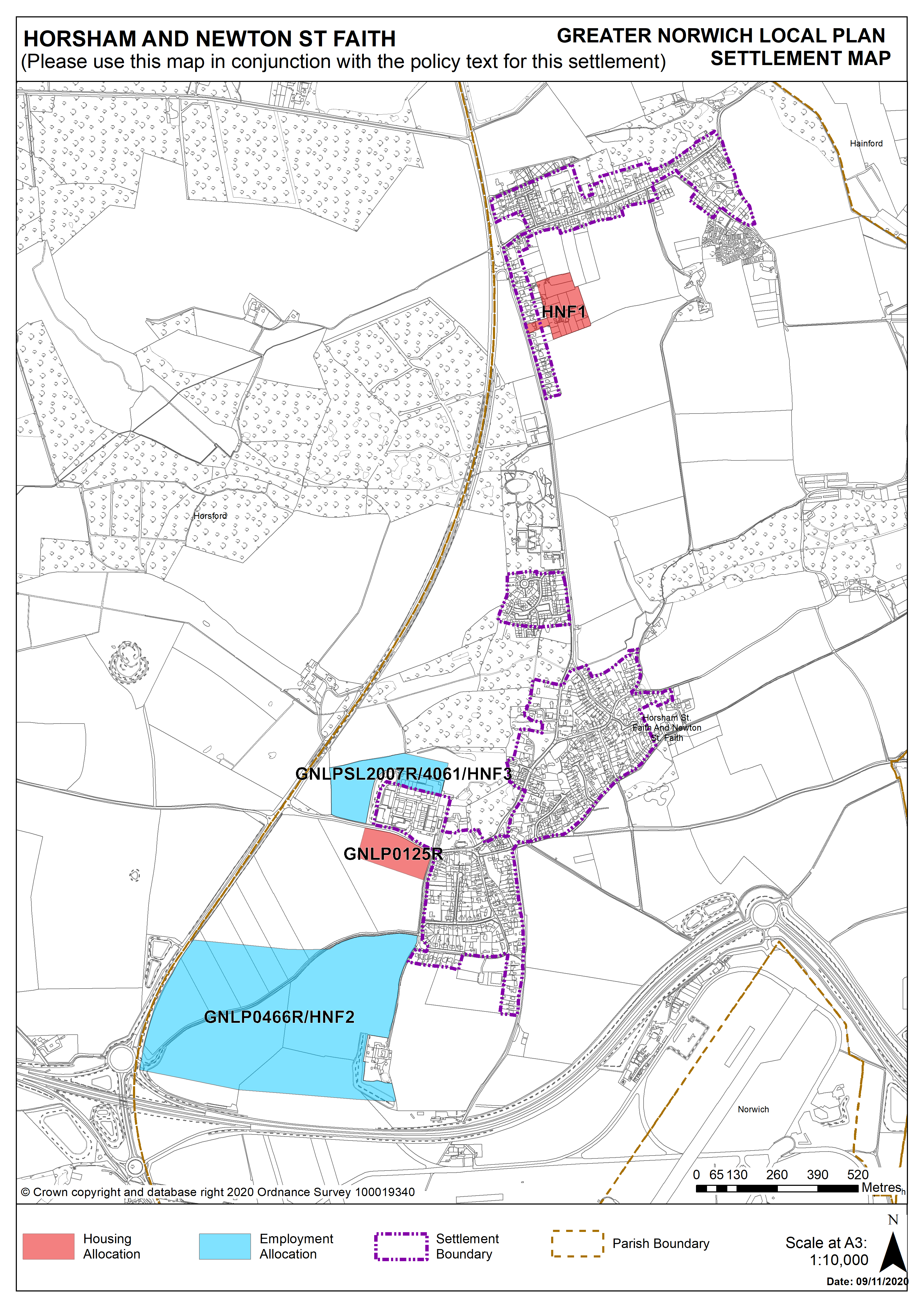 Horsham Settlement Map